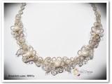 esküvő, ezüstözött, nikkelmentes, gyöngy